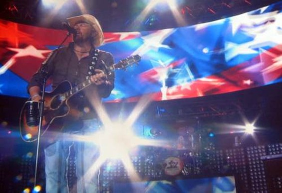 Toby Keith at Shoreline last month.
