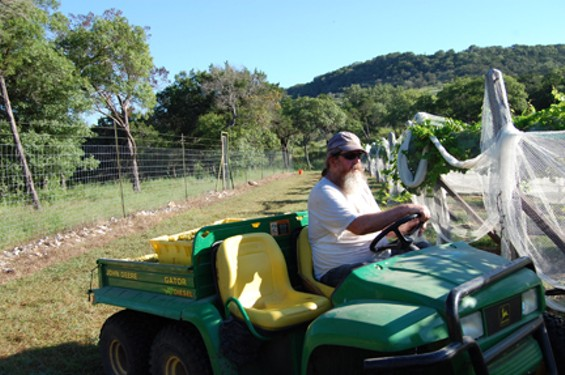 Tony Cotturi works on his dry farm. - DOBIANCHI