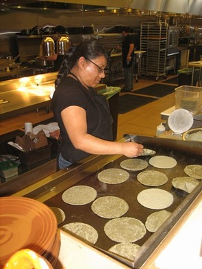 Tortillas are handmade. - M. LADD