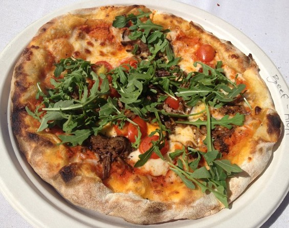 Tra Vigne's short rib pizza was the best thing we ate at Bottle Rock. - ANNA ROTH