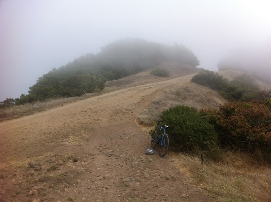 "Trails in Tilden Regional Park with my dearly departed (stolen) custom randonneuring bicycle -- predecessor to the modern ""gravel road bike."""