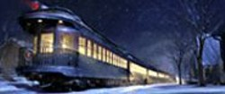 Train Story: The ride to the North Pole may - induce vertigo in older viewers, but teenage - boys will love it.