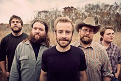 Trampled by Turtles, with Dave Simonett at center.