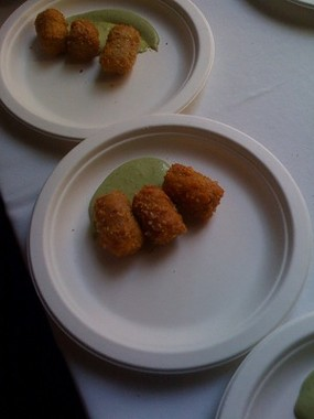 Trotter Tots with pea-brain aioli, one of Peter McNee's winning dishes. - LAIKO BAHRS