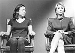 DAVID  ALLEN - Tung and Holt in Hillary ...: A sly and funny show that manages, sometimes, to be sophisticated.