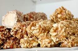 PETE KANE - Turn your whole day around with hand-dipped, walnut-crusted candies.