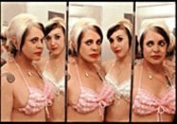 Two Less Lonely People: Genesis P-Orridge and - his/her soon-to-be twin, Lady Jaye.
