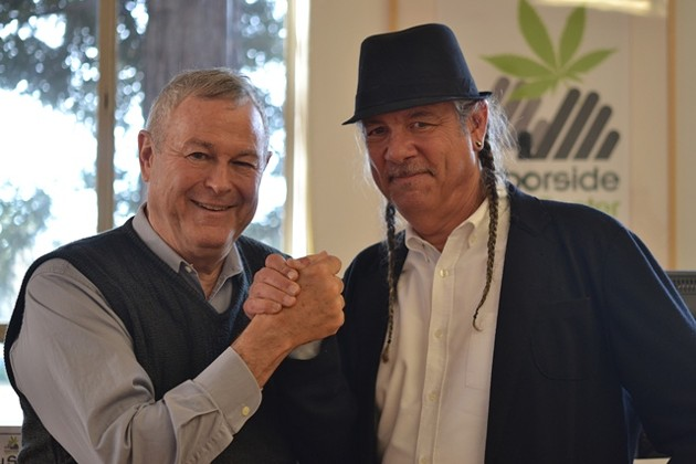 U.S. Rep. Dana Rohrabacher, left, with Harborside Health Center CEO Steve D'Angelo.