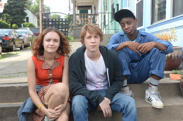 (L-R) Olivia Cooke, Thomas Mann and RJ Cyler star in Me and Earl and the Dying Girl. - COURTESY OF FOX SEARCHLIGHT PICTURES