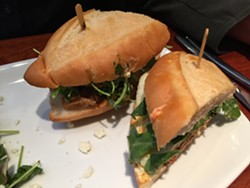 House-made merguez sandwich - PETER LAWRENCE KANE