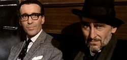 Lee, with Peter Cushing in Dr. Terror's House of Horrors (1965) - AMICUS FILMS