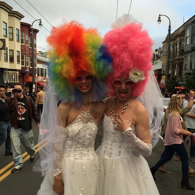Happy brides. - PETER LAWRENCE KANE