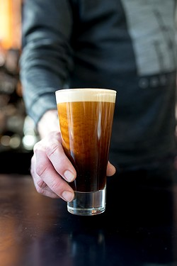 Howling Wolf, Highwire Coffee's nitro cold brew served on tap at Saturday markets. - CHELSEA DIER