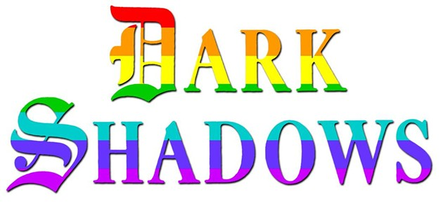 Dark Shadows logo re-imagined with the rainbow flag colors. - N/A