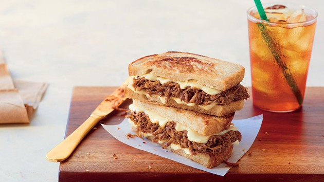 The BBQ Beef Brisket on Sourdough, as advertised. - PHOTO VIA HUFFINGTON POST