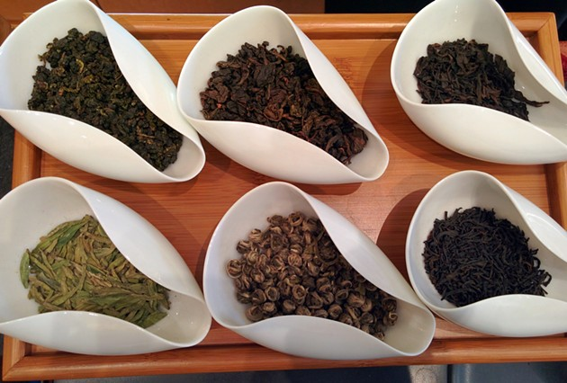 Part of our tea tasting and lesson at Red Blossom. - PHOTO BY JESSICA FENDER
