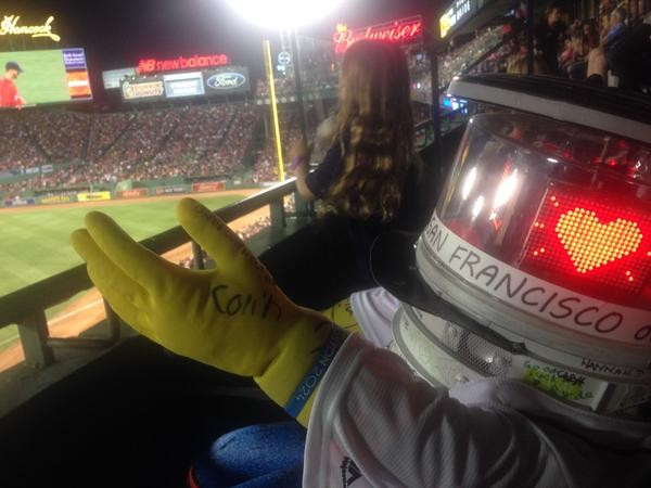 HitchBOT takes in a Red Sox game - HITCHBOT VIA TWITTER