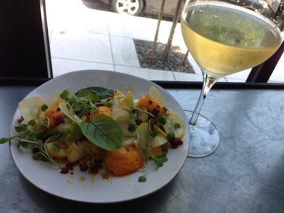 Summer Squash Salad and Viognier Watching The Cable Cars - TREVOR FELCH