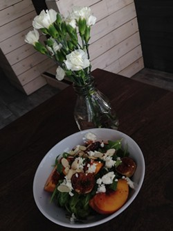 The Peach Salad at Rove Kitchen - TREVOR FELCH