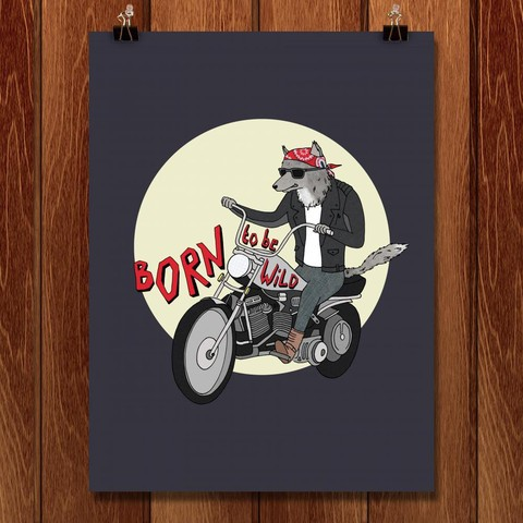 Born to Be Wild - ART BY NAOMI SLOMAN