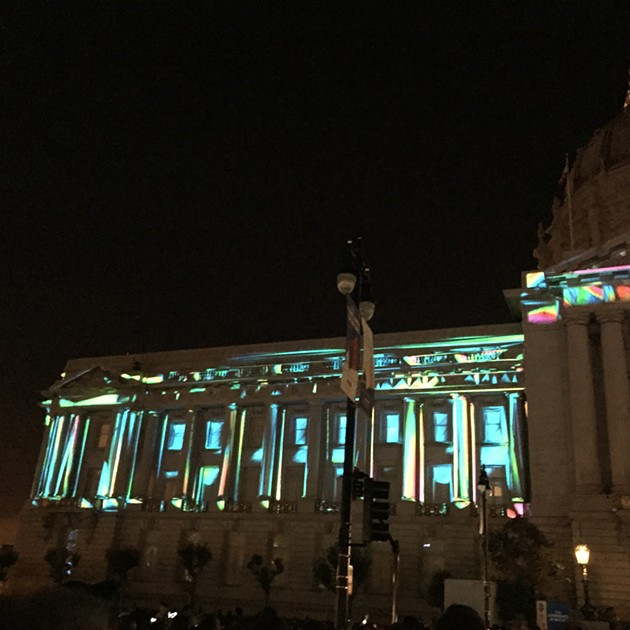 City Hall during its centennial celebration - PETER LAWRENCE KANE