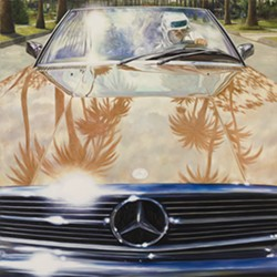 """1974 Mercedes-Benz 450SL (Annie Hall), Oil on linen, 48"""" x 48"""", 2011 - ERIC WHITE"""