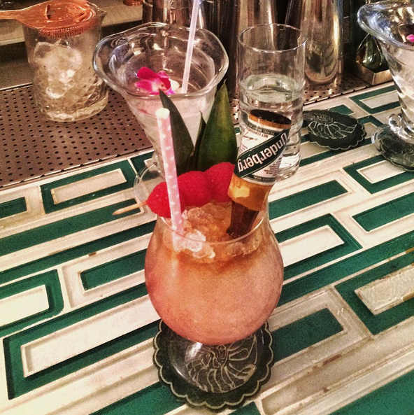 The Imperial Bulldog: Aquavit, lime, pineapple, raspberry, Underberg. - MATT BRUCK/INSTAGRAM