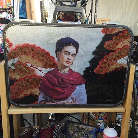 Not food, but I went gaga over this Frida Kahlo luggage. - PETER LAWRENCE KANE