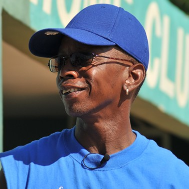 Coach Roscoe Bryant looks to the future of his inner-city league, the Oakland Royals. - GHOST TOWN TO HAVANA WEBSITE