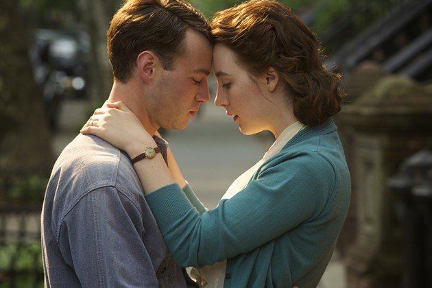 Two of hearts: Tony (Emory Cohen) and Ellis fall in love in Brooklyn. - PHOTO BY KERRY BROWN