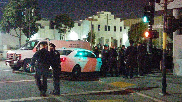 The scene at 3rd and Gilman - MIKE KOOZMIN/SF EXAMINER