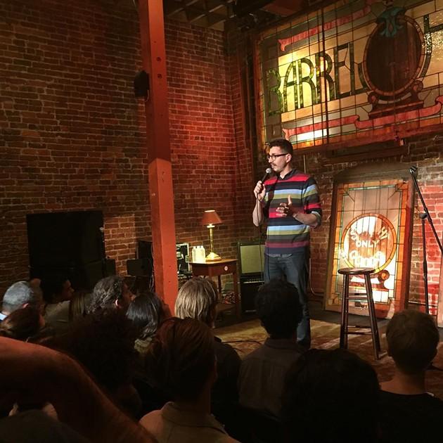 "Host Matt Lieb kicks off the first episode of ""The Guest List."" - PHOTO: @ROOFTOPCOMEDY ON INSTAGRAM"