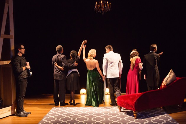 The cast of Stage Kiss takes a bow after opening night of 'The Last Kiss'. - JESSICA PALOPOLI