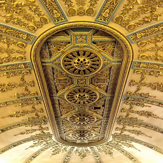 The ceiling of the New Mission Theater. - PETER LAWRENCE KANE