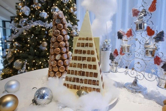 A Bûche de Noël Transamerica Pyramid at Bay223. - COURTESY OF BAY223 AT SOFITEL SAN FRANCISCO BAY
