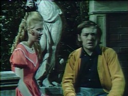 Kathleen Cody, with David Henesy, on Dark Shadows in 1970. - DAN CURTIS PRODUCTIONS