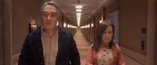 Two is the loneliest number: Michael (David Thewlis) and Lisa (Jennifer Jason Leigh) only alienate each other in animated stop-motion film, Anomalisa. - PARAMOUNT PICTURES