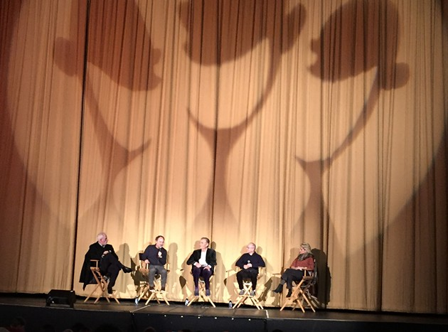 Moderator Kevin Pollack chats with Waiting for Guffman stars Christopher Guest, Fred Willard, Bob Balaban, and Parker Posey.