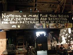 Inside 924 Gilman Street.