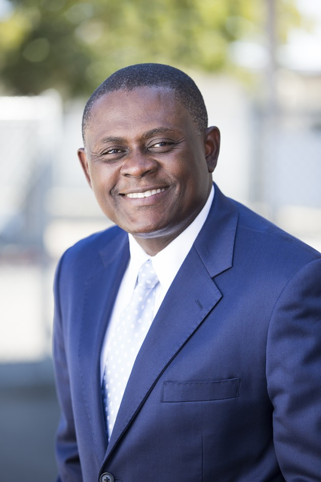 Dr. Bennet Omalu leads Concussion: Brain Injury and the NFL at City Arts & Lectures with Stone Phillips on Feb. 4. - COURTESY OF GREATER TALENT NETWORK, INC.