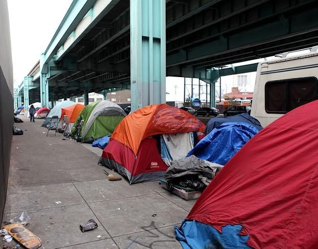 Tent City. - EKEVARA KITPOWSONG/SF EXAMINER
