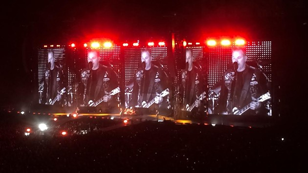 James Hetfield doing his scary demon voice. - JESSIE SCHIEWE