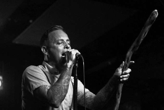 The Loved Ones vocalist, Dave Hause, borrowed Gandalf's staff for the show. - WILLIE CLARK