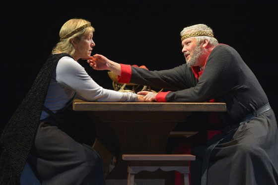 Frances McDormand (Lady Macbeth) and Conleth Hill (Macbeth) at Berkeley Rep. - PHOTO COURTESY OF KEVINBERNE.COM