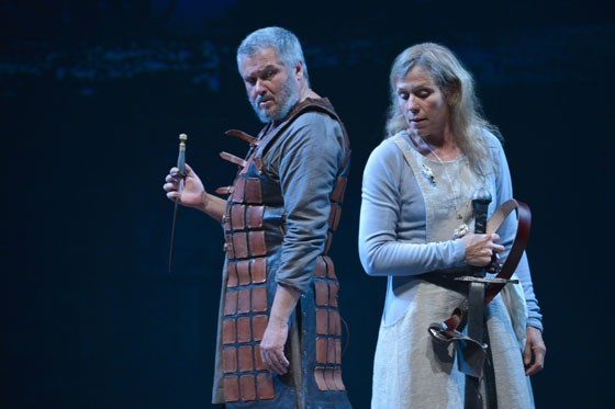 Conleth Hill (Macbeth) and Frances McDormand (Lady Macbeth) at Berkeley Rep. - PHOTO COURTESY OF KEVINBERNE.COM