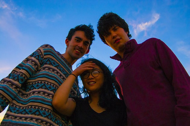 Three out of four of Summer Peaks' members: Zachary Elsasser, Melina Duterte, and Daniel Mandrychenko.
