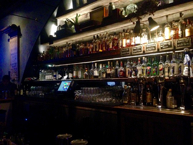 Harper & Rye's expansive backbar. - PHOTO BY MIKE VANGEL.