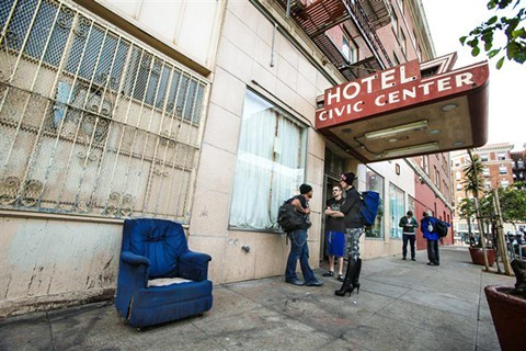The hotel as it appeared in January 2015. - MIKE KOOZMIN/SF EXAMINER