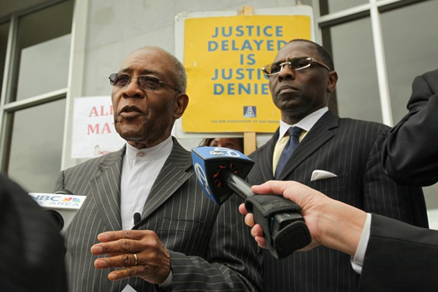 Rev. Amos Brown, left. - GABRIELLE LURIE/SF EXAMINER FILE PHOTO