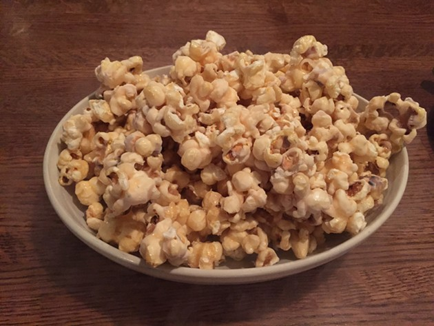 Can you see the nitrogen off-gassing from this bowl of caramel popcorn? - PETER LAWRENCE KANE